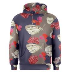 Original Butterfly Carnation Men s Pullover Hoodie