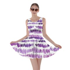 Original Feather Opaque Color Purple Skater Dress by Mariart