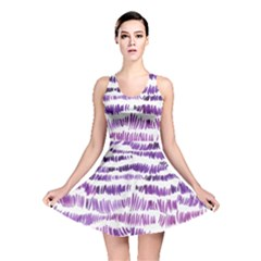 Original Feather Opaque Color Purple Reversible Skater Dress by Mariart