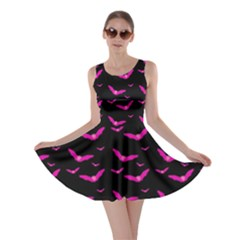 Halloween Pink Bats Skater Dress by chihuahuadresses