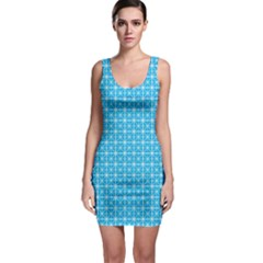 Simple Rectangular Pattern Sleeveless Bodycon Dress by berwies