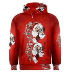 Funny Santa Claus  On Red Background Men s Pullover Hoodie