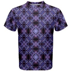 Lavender Moroccan Tilework  Men s Cotton Tee by KirstenStar