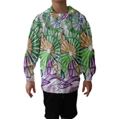 Zentangle Mix 1116c Hooded Wind Breaker (kids) by MoreColorsinLife