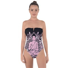 Ornate Buddha Tie Back One Piece Swimsuit by Valentinaart