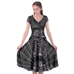 Spider Web Wallpaper 14 Cap Sleeve Wrap Front Dress by BangZart
