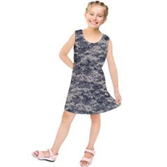 Us Army Digital Camouflage Pattern Kids  Tunic Dress