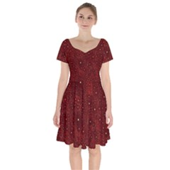 Awesome Allover Stars 01a Short Sleeve Bardot Dress by MoreColorsinLife
