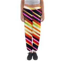 Funky Color Lines Women s Jogger Sweatpants by BangZart