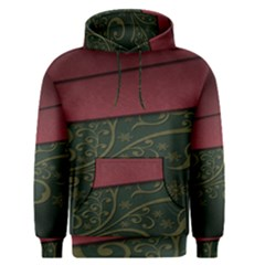 Beautiful Floral Textured Men s Pullover Hoodie