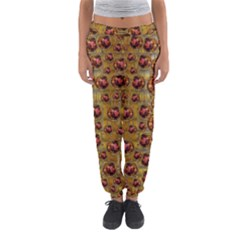 Angels In Gold And Flowers Of Paradise Rocks Women s Jogger Sweatpants by pepitasart