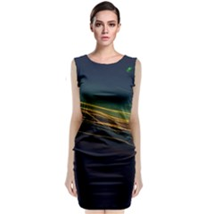 Night Lights Classic Sleeveless Midi Dress by BangZart