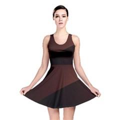 Color Vague Abstraction Reversible Skater Dress