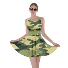Camouflage Camo Pattern Skater Dress by BangZart