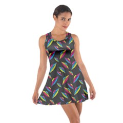 Alien Patterns Vector Graphic Cotton Racerback Dress
