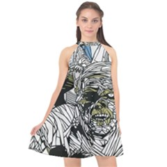 The Monster Squad Halter Neckline Chiffon Dress  by BangZart