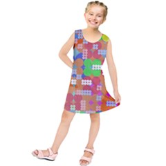 Abstract Polka Dot Pattern Kids  Tunic Dress by BangZart