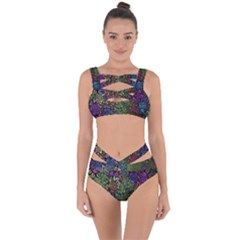 Grunge Rose Background Pattern Bandaged Up Bikini Set  by BangZart