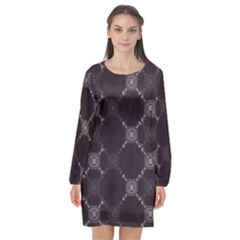 Abstract Seamless Pattern Background Long Sleeve Chiffon Shift Dress  by BangZart