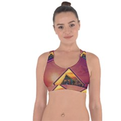 The Rainbow Bridge Of A Thousand Fractal Colors Cross String Back Sports Bra by jayaprime