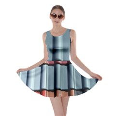 Shingle Roof Shingles Roofing Tile Skater Dress by BangZart