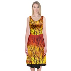 Sunset Abendstimmung Midi Sleeveless Dress