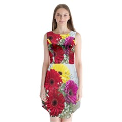 Flowers Gerbera Floral Spring Sleeveless Chiffon Dress   by BangZart