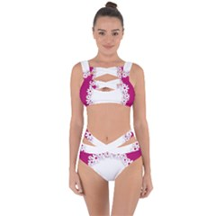Photo Frame Transparent Background Bandaged Up Bikini Set  by BangZart