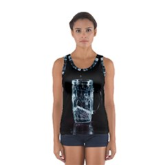 Glass Water Liquid Background Women s Sport Tank Top  by BangZart