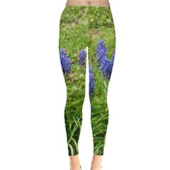 Bluebell Field Leggings  by twirlsandswirlsdesigns