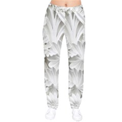 Pattern Motif Decor Drawstring Pants