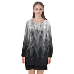 Feather Graphic Design Background Long Sleeve Chiffon Shift Dress  by BangZart