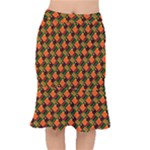 Afro Pop Short Mermaid Skirt