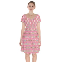 Cute Eggs Pattern Short Sleeve Bardot Dress by linceazul