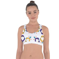 Pattern Circular Birds Cross String Back Sports Bra by BangZart