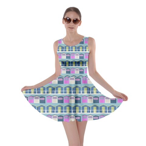 Beach Huts Skater Dress