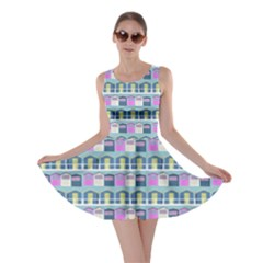 Beach Huts Skater Dress by chihuahuadresses
