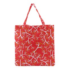 Small Flowers Pattern Floral Seamless Pattern Vector Grocery Tote Bag