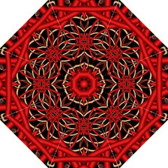 Fractal Wallpaper With Red Tangled Wires Folding Umbrellas