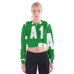 Autostrada A1 Cropped Sweatshirt by abbeyz71