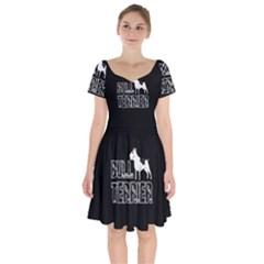 Bull Terrier  Short Sleeve Bardot Dress