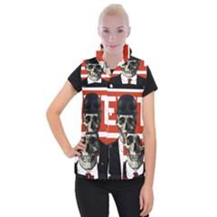 Dualism Women s Button Up Puffer Vest by Valentinaart