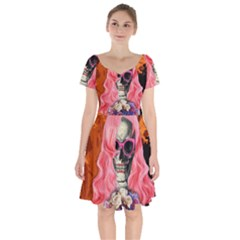 Bride From Hell Short Sleeve Bardot Dress
