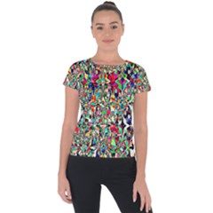 Psychedelic Background Short Sleeve Sports Top