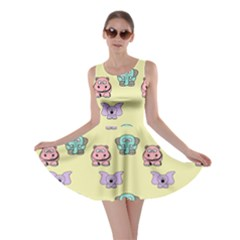 Animals Pastel Children Colorful Skater Dress by BangZart