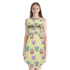 Animals Pastel Children Colorful Sleeveless Chiffon Dress   by BangZart