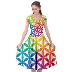 Heart Energy Medicine Cap Sleeve Wrap Front Dress