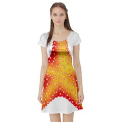 Starfish Short Sleeve Skater Dress by BangZart