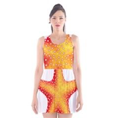 Starfish Scoop Neck Skater Dress by BangZart