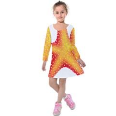 Starfish Kids  Long Sleeve Velvet Dress